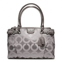 Coach :: New Madison Op Art Sateen Kara Carryall