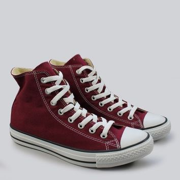 Converse - All Star Hi Maroon Trainers | SHOES | nigelclare.com