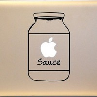 Applesauce Jar Macbook Decal Vinyl Sticker for Mac Laptop | KrazyKutz - Housewares on ArtFire