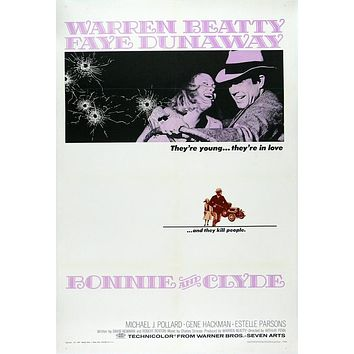 Vintage Bonnie and Clyde Movie Poster//Classic Movie Poster/Movie Poster//Poster Reprint//Home Decor//Wall Decor//Vintage Art