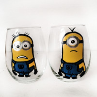 Minions stemlesss Wine glass set - 21 oz