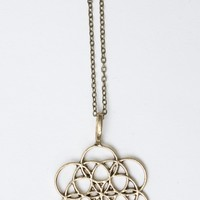 BRONZE CIRCULAR MANDALA NECKLACE