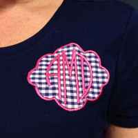 Monogrammed Preppy Patch t-shirt