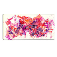 Vivid Array Floral Canvas Wall Art Print
