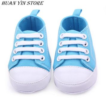 New Soft Infant Newborn Baby Boy Girl Kid Soft Sole Shoes Sneaker Newborn 0-12Months
