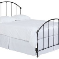 Celina Arched Steel Bed, Aged Iron, Panel Beds