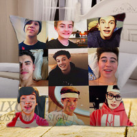 MAGCON Boys Funny SMile on square pillow cover 16inch 18inch 20inch