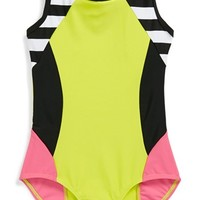 Limeapple 'Grouper' One-Piece Swimsuit (Little Girls) | Nordstrom