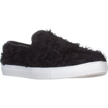 Wanted  Frills Slip-On Fashion Sneakers, Black, 10 US