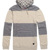 Quiksilver Atlas Daze Long Sleeve Hooded Pullover Shirt - Mens Shirt - Stone/Titanium -