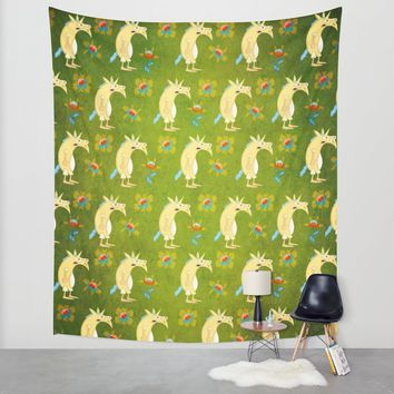 Flowers & Unicorns Wall Tapestry by That's So Unicorny