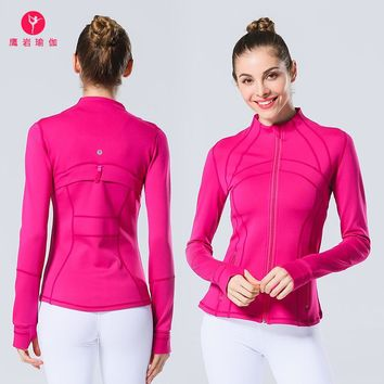Princess Yoga Serve Yoga Motion Run High Elasticity Jacket Speed Do Printing Yoga Sweater Brand Jacket
