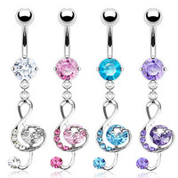 Belly Ring-Musical Note