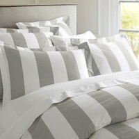 PB Classic Stripe 400-Thread-Count Duvet Cover & Sham