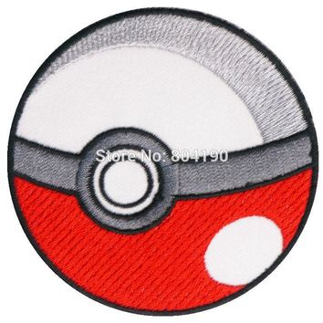 POKEBALL TV MOVIE Series Embroidered Sew On Iron On Patch Tshirt TRANSFER MOTIF APPLIQUE BadgeKawaii Pokemon go  AT_89_9