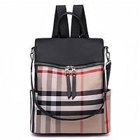 Burberry Casual Sport Laptop Bag Shoulder School Bag Backpack