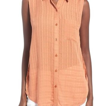 BP. Sleeveless Woven Blouse | Nordstrom