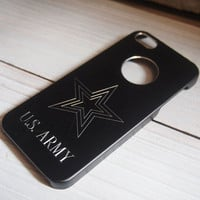 Engraved case iPhone 5, engraved metal iPhone 5 army case, Engraved stars iPhone 5 case, personalized iPhone 5 case, custom engraved case