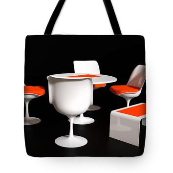 "Four Tulip Chairs Tote Bag for Sale by Jan Brons (18"" x 18"")"