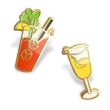Brunch Buddies Drink Pin Set