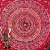 Red Camle Mandala Tapestry , Indian Hippie Wall Hanging , Bohemian Twin Wall Hanging, Bedspread Beach Coverlet throw Decor Art