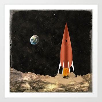 Rocket Art Print by Chris Bradbury