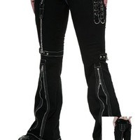 Living Dead Souls Laceup Zipper Girls Pants :: VampireFreaks Store :: Gothic Clothing, Cyber-goth, punk, metal, alternative, rave, freak fashions