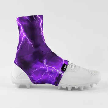 Purple Lightning Spats / Cleat Covers