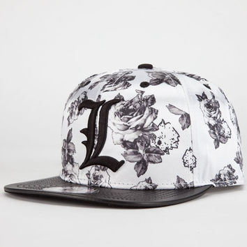 Last Kings Rose Mens Snapback Hat White One Size For Men 23075015001