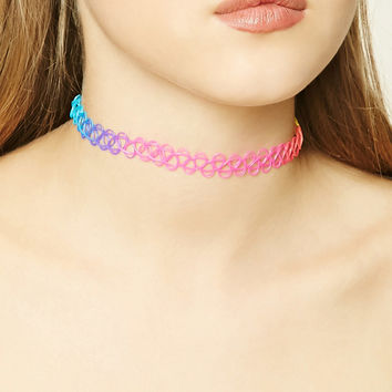 Multicolored Tattoo Choker