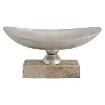 Import Collection Decorative Bowl - Silver