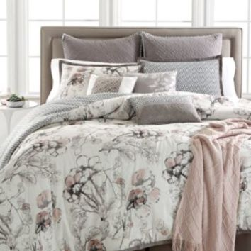 Kelly Ripa Home Pressed Floral 10-Pc Queen Comforter Set, Only at Macy's | macys.com