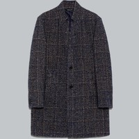 CHECKED COAT WITH NOTCHED LAPEL COLLAR - OUTERWEAR-MAN | ZARA United Kingdom