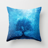 Songs from the sea. Throw Pillow by Viviana Gonzalez