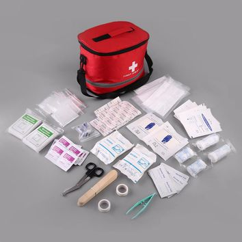 BK-B14 First Aid Kit Emergency Survival Medical Rescue Bag with Shoulder Strap + First Aid Supplies Promotion