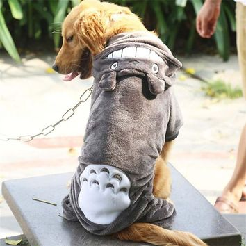 Dog Clothes Cosplay Clothing For Dog Costume Warm Winter Coat For Pet Clothes Totoro Big Large Dogs Hoodies 3XL-9XL