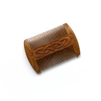 Beard Comb, Mustache Comb, Celtic, Sandalwood Beard Comb, Fragrant Natural Wood, Anti-Static, Best for Beard, Moustache, Handmade MariyaArts