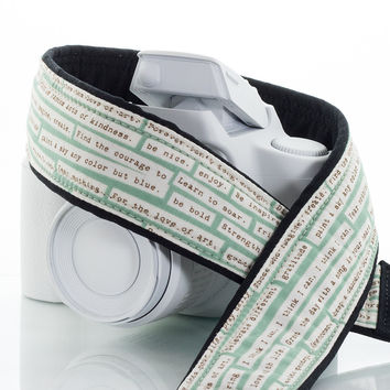 001 Camera Strap Happy Thoughts