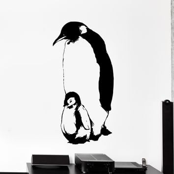 Wall Vinyl Decal Penguin Family Baby Animal North Pole Home Interior Decor Unique Gift z4126