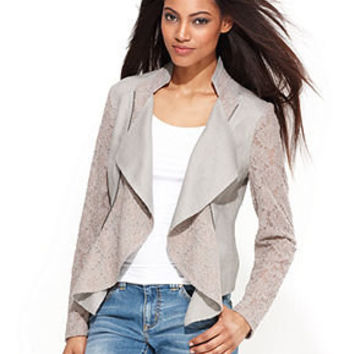 INC International Concepts Jacket, Lace Linen Moto - Jackets & Blazers - Women - Macy's