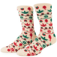 The Tinsel Crew Socks in Red