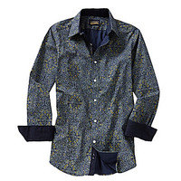 Cremieux Jeans Long-Sleeve Printed Woven Shirt - Green