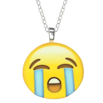 CRYING EMOJI NECKLACE