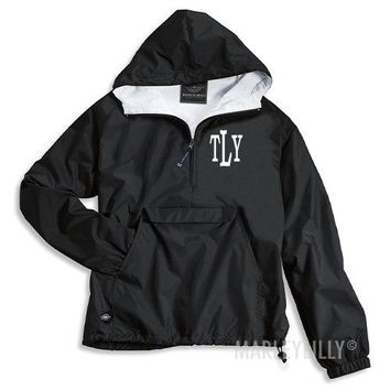 Monogrammed Pullover Rain Jacket | Marley Lilly