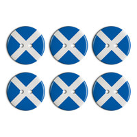 Scotland National Country Flag Plastic Resin Button Set of 6