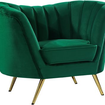 Margo Green Velvet Chair