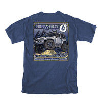 On the Rocks Tee in Navy by Fripp & Folly