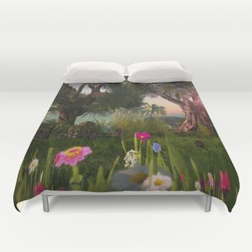 Multitude of Color Duvet Cover by Bella Luna Arts