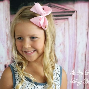 Girls Small Chunky Hair Bow