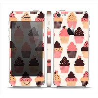 The Yummy Subtle Cupcake Pattern Skin Set for the Apple iPhone 5